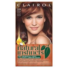 Want natural red hair color? Try Natural Instinct's demi-permanent products with aloe, vitamin and antioxidants for healthy natural red hair color from Clairol. Clairol Natural Instincts, Non Permanent Hair Color, Demi Permanent, Auburn Brown, Light Auburn, Cool Blonde, Brunette To Blonde, Pixie, Ammonia Free Hair Color