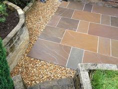 Image result for indian stone patio with gravel Slate, Stepping Stones, Sidewalk, Yard, Patio, Indian, Outdoor Decor, Home Decor, Chalkboard
