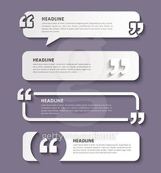 Quotes in quotation marks in on banners Page Layout Design, Web Design, Book Layout, Powerpoint Design Templates, Presentation Design Template, Coreldraw, Pull Quotes, Newsletter Layout, Bubble Quotes