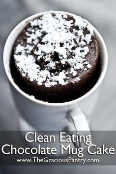 Clean Eating Chocolate Mug Cake (makes 2 servings)