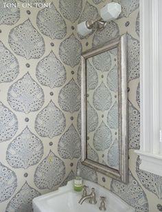 Tone on Tone: Powder Room Renovation