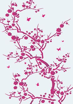 japanese blossom for a decal idea