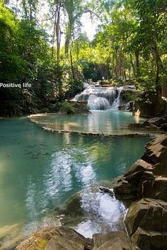 Erawan Waterfalls National Park @ Kanchanaburi, Thailand