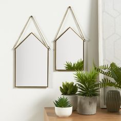 Image Set of 2 Uyova House-Shaped Mirrors La Redoute Interieurs