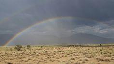 Rainbow in eastern sierras