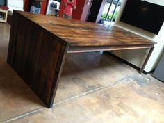 Reclaimed Hemlock and Steel Conference Table