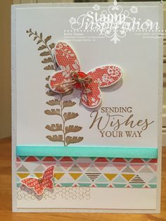 I am having a fabulous time creating cards and projects with lovely new Stampin Up! products...