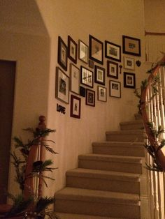 Wall Gallery On Curved Staircase