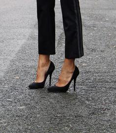 4b3ad928e3 Christine Centenera wears Balmain shoes. Tuxedo Pants