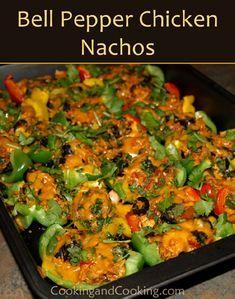 Bell-Pepper-Chicken-Nachos #healthychicken