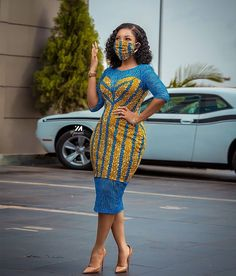 This is why your favourite fashion gang is bringing to you simple Ankara DIY dresses you can comfortably try out while at home African Inspired Fashion, Latest African Fashion Dresses, African Dresses For Women, African Print Dresses, African Print Fashion, African Attire, African Wear, Ankara Fashion, African Style