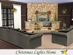 evi Christmas Lights Home Baby Changing Table, Sims 4 Cc Furniture, Big Kitchen, Outdoor Furniture Sets, Outdoor Decor, Sofa Set, Christmas And New Year, Second Floor, Christmas Lights