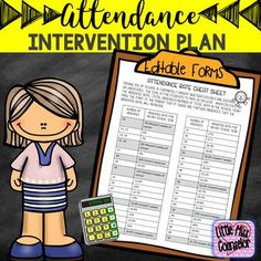 Editable Attendance Intervention Plan by Little Miss Counselor Attendance Incentives, Student Attendance, Attendance Ideas, School Counseling Office, Elementary Counseling, School Counselor, Social Work Humor, School Social Work, High School