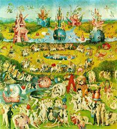 El jardín de las delicias, de El Bosco -  La tabla central del célebre tríptico del pintor flamenco tiene una finalidad moralista: retrata el vicio, la lujuria, como la vía más directa hacia la condenación en el infierno