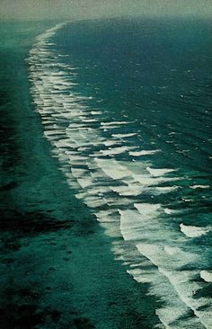 Surf's eternal thunder booms against Belize's 175-mile-long barrier reef, second in length only to the great reef that guards Australia's northeast coast. The rampart- actually a series of reefs ranging up to 60 miles offshore- separates shallow waters from the Caribbean depths of a mile or more. National Geographic, January 1972
