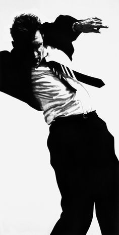 Robert Longo, 1981-87  Charcoal, graphite and ink on paper    96 x 48 inches