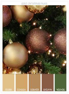 Colour Inspiration: Gold Christmas Hues