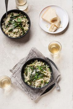 Asparagus and pea risotto with basil and lemon   DrizzleandDip.com   photography Sam Linsell