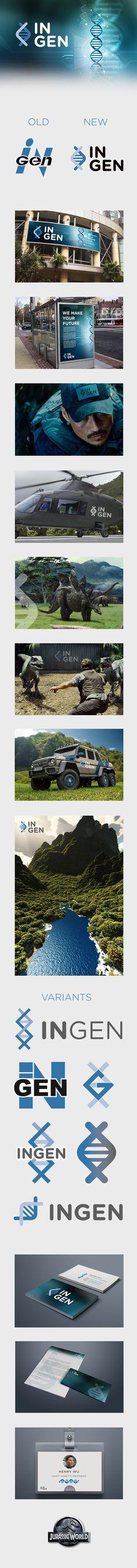 InGen Jurassic World Rebranding on Behance