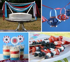 Gorgeous patriotic party ideas for Memorial Day weekend.