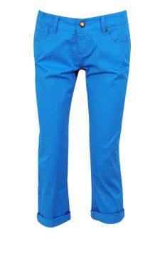 The perfect pant for a spring day! Dots Blue Cuffed Skinny Pant. $19.80