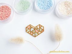 Seed Bead Art, Seed Bead Jewelry, Bead Jewellery, Bead Earrings, Beaded Jewelry, Hama Beads Patterns, Beaded Bracelet Patterns, Peyote Patterns, Beading Patterns