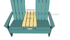 This step by step woodworking project is about double adirondack chair plans. This article features detailed instructions for building nice double adirondack chairs with table, ideal for any backyard. Pool Chairs, Outdoor Chairs, Outdoor Glider, Woodworking Plans, Woodworking Projects, Woodworking Videos, Woodworking Furniture, Teak Adirondack Chairs, Wood Shop Projects