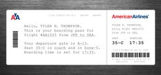 280. A Practical yet Human Boarding Pass Design. - Graphicology Blog - Graphicology