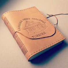 Leather journal / cottage diary / cronicle / pyrography / handmade / bookbinding / long stitch / by ardeas / http://www.ardeas.sk/