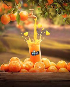 Food Graphic Design, Food Poster Design, Creative Poster Design, Ads Creative, Creative Posters, Creative Advertising, Advertising Design, Advertising Campaign, Fruit Splash
