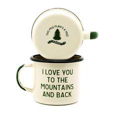 Mountain Lovin' Enamel Camp Mug - Set of Two | Village and Wild