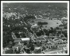 I can't believe how much campus has changed just since the 1970s. Aerial view of campus taken in November 1971.
