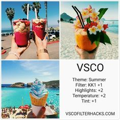 30 VSCO Filters for Summer - VSCO Filter Hacks - Photography editing - vsco Vsco Filters Summer, Best Vsco Filters, Photography Filters, Photography Editing, Vsco Photography Inspiration, Feed Vsco, Foto Filter, Fotografia Vsco, Vsco Hacks