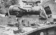 Destroyed a German tank PzKpfw III 5. Panzer Division in 1940