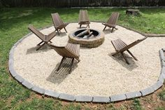 The backyard is the perfect place for entertaining. Serena Appiah of Thrift Diving created a DIY fire pit with pavers from The Home Depot. Paver Fire Pit, Fire Pit Bench, Fire Pit Seating, Concrete Fire Pits, Fire Pit Area, Backyard Seating, Fire Pit Gravel Area, Seating Areas, Fire Pit With Pavers