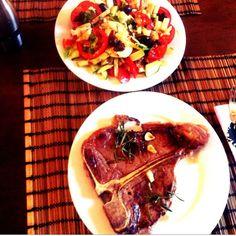T-Bone Steak for breakfast - Steak Breakfast, T Bone Steak, Mexican, Beef, Ethnic Recipes, Food, Meat, Essen, Meals