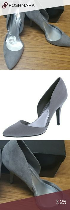 Christian Siriano Faux Suede Heels New with Tags classy faux suede pumps. Size 9.5. perfectly versatile for a night out or business casual. Could even be the perfect addition to an Holiday outfit Gray to go with just about anything. Christian Siriano Shoes Heels