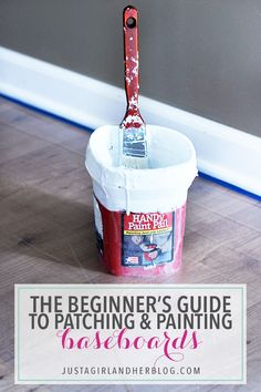 Patching and painting baseboards has never been easier! Follow this simple step-by-step tutorial!