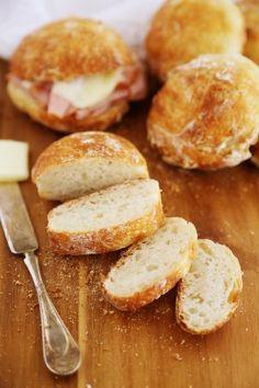 No-Knead Crusty Artisan Mini Loaves