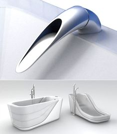 Germophobic, Minimalist Sink Faucet/Lever and a Partially Inflatable Bathtub
