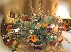 Ana Silk Flowers: Brown, Sage and Burgundy Silk Flowers Arrangements...