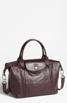 Longchamp Small  Le Pliage Cuir  Leather Top Handle Tote   Nordstrom 4af2aca896