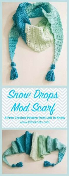 Crochet Patterns and Projects for Teens - Snow Drop Mod Scarf - Best Free Patterns and Tutorials for Crocheting Cute DIY Gifts, Room Decor and Accessories - How To for Beginners - Learn How To Make a Headband, Scarf, Hat, Animals and Clothes DIY Projects and Crafts for Teenagers http://diyprojectsforteens.com/crochet-patterns-free