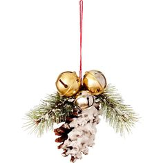 Sage & Co. Cherry Hill Lane Pine, Pinecone, Jingle Bell Ornament