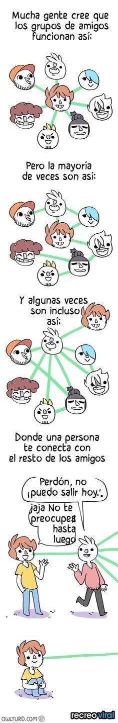 comic redes de amistad