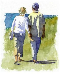 How to Paint a Watercolour Picture That Tells a Story. Ways to include figures in your paintings with Fiona Peart