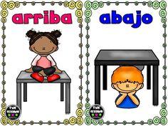 Learning Spanish For Kids, Spanish Teaching Resources, Learning Time, Spanish Language Learning, Kids Learning Activities, Opposites Preschool, Math Bingo, Classroom Behavior Management, Language And Literature
