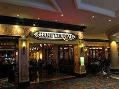 In the Venetian...open for breakfast, lunch, and dinner.  Always great food.  Grand Luxe Cafe, Venetian, Las Vegas