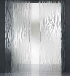 modern glass door with satin glass chemical processes