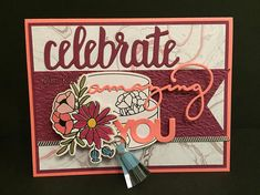 Stampin' Up! Sweet soiree, 2018 sale-a-bration Birthday Card Pop Up 3D CAKE Celebrate Amazing You Tassel